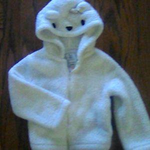 Gymboree bear fleece zip-up hoodie